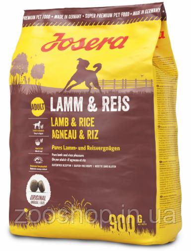 Josera Lamb & Rice корм для взрослых собак из мяса ягненка 900 г