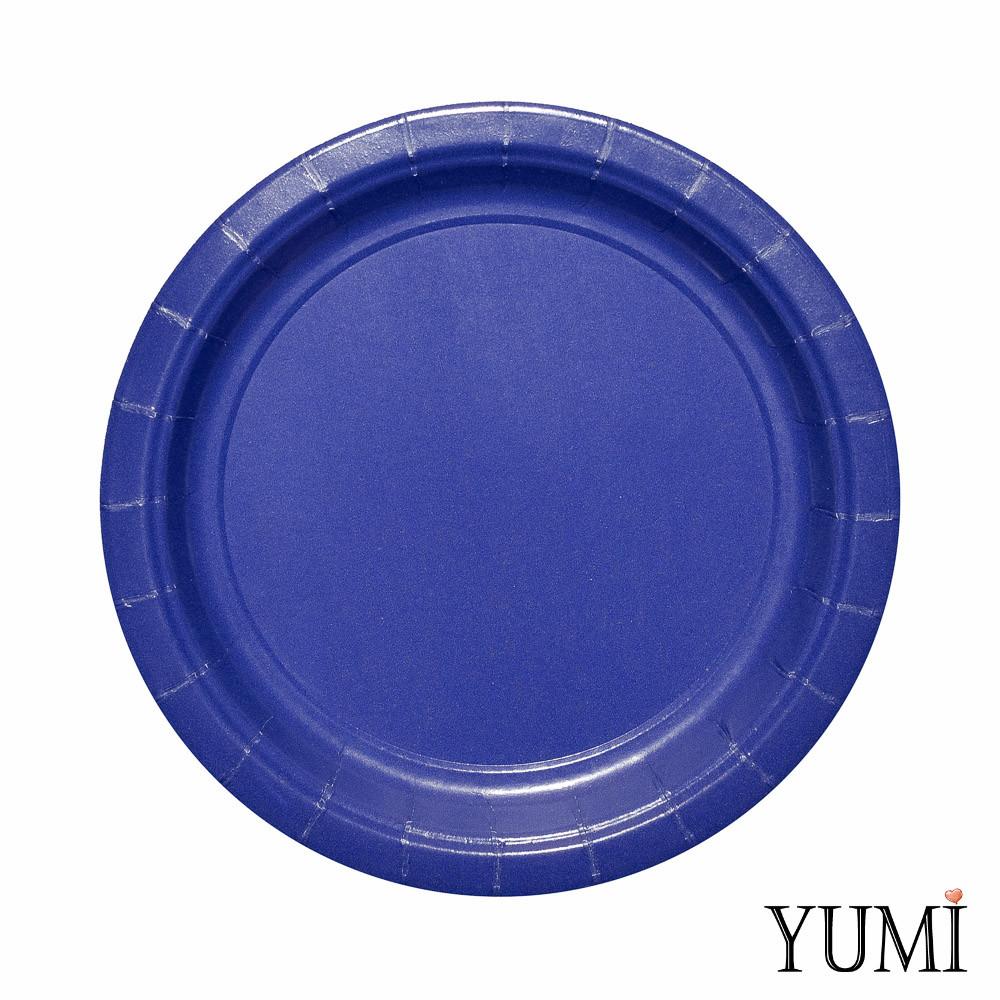 Тарелка картон Navy Flag Blue 17см / 8 шт. Amscan