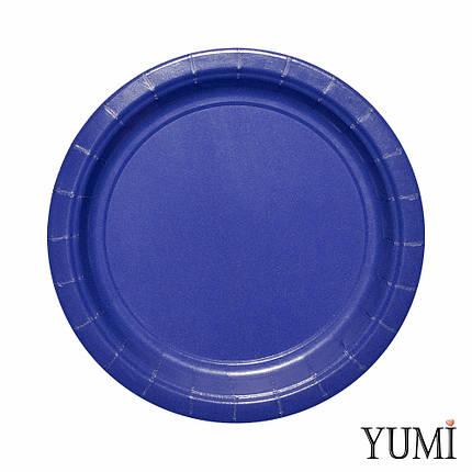 Тарелка картон Navy Flag Blue 17см / 8 шт. Amscan, фото 2