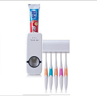 Дозатор для зубной пасты с держателем зубных щеток, фото 1