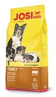 JosiDog Family корм для щенков и юниоров, для беременных и кормящих собак 18 кг