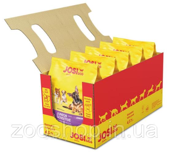 JosiDog Junior Sensitive cухой корм для щенков с чувствительным пищеварением 4.5 кг