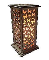 Соляной светильник Прямоугольный Бабочки