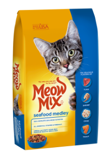 Meow Mix Seafood Medley сухий корм для дорослих кішок 6.44 кг, фото 2