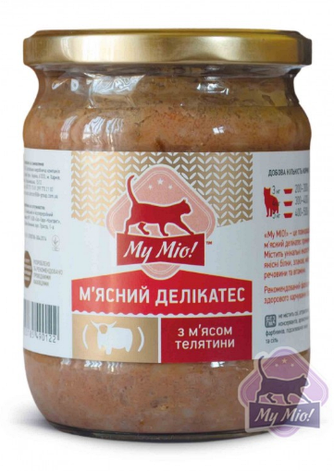 My Mio! Мясной деликатес для кошек с мясом телятины 500 г, фото 2