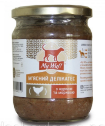 My Wuf! Мясной деликатес для собак c курицей и морковью 500 г