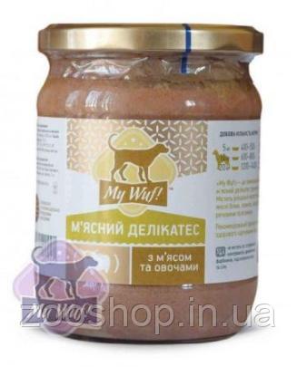 My Wuf! Мясной деликатес для собак c мясом и овощами 500 г, фото 2