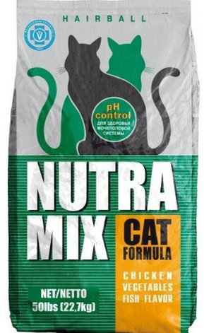 Nutra Mix Hairball сухой корм для взрослых кошек 9,07 кг, фото 2