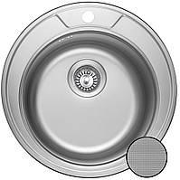 Круглая кухонная мойка из нержавеющей стали  Galati Sorin Textura (Еко)