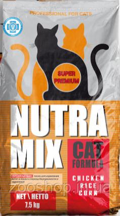 Nutra Mix Professional сухой корм для взрослых кошек 9.07 кг, фото 2