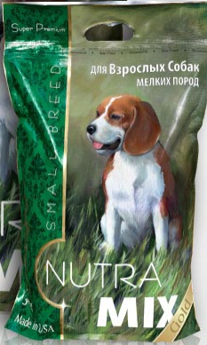 Nutra Mix Small Breed Adult сухой корм для собак мелких пород 3 кг