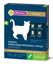 Vitomax Gold инсектоакарицидные капли на холку для котов