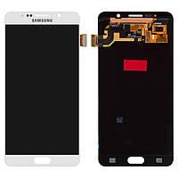 Дисплей для Samsung Galaxy Note 5 N9200, N920C, N920F, модуль (экран и сенсор), белый, оригинал