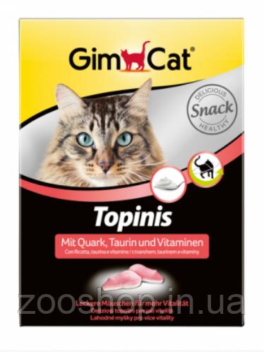 Витаминные мышки с таурином и творогом для кошек Gimpet Topinis