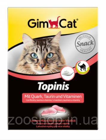 Витаминные мышки с таурином и творогом для кошек Gimpet Topinis, фото 2