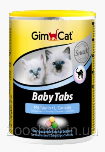 Витамины с фруктами, морскими водорослями, таурином и L-карнитином для котят Gimpet Baby-Tabs