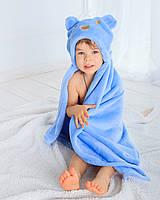 Детское полотенце с капюшоном Dream Towels Медвежонок 76х92 Голубой (dm-1014), фото 1