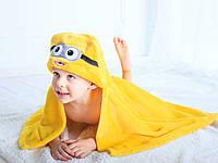 Детское полотенце с капюшоном Dream Towels Миньон 76х92 Желтый (dm-1003), фото 1