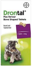 Добавка Bayer Drontal Plus для лечения и профилактики гельминтозов для собак со вкусом мяса 6 таблеток