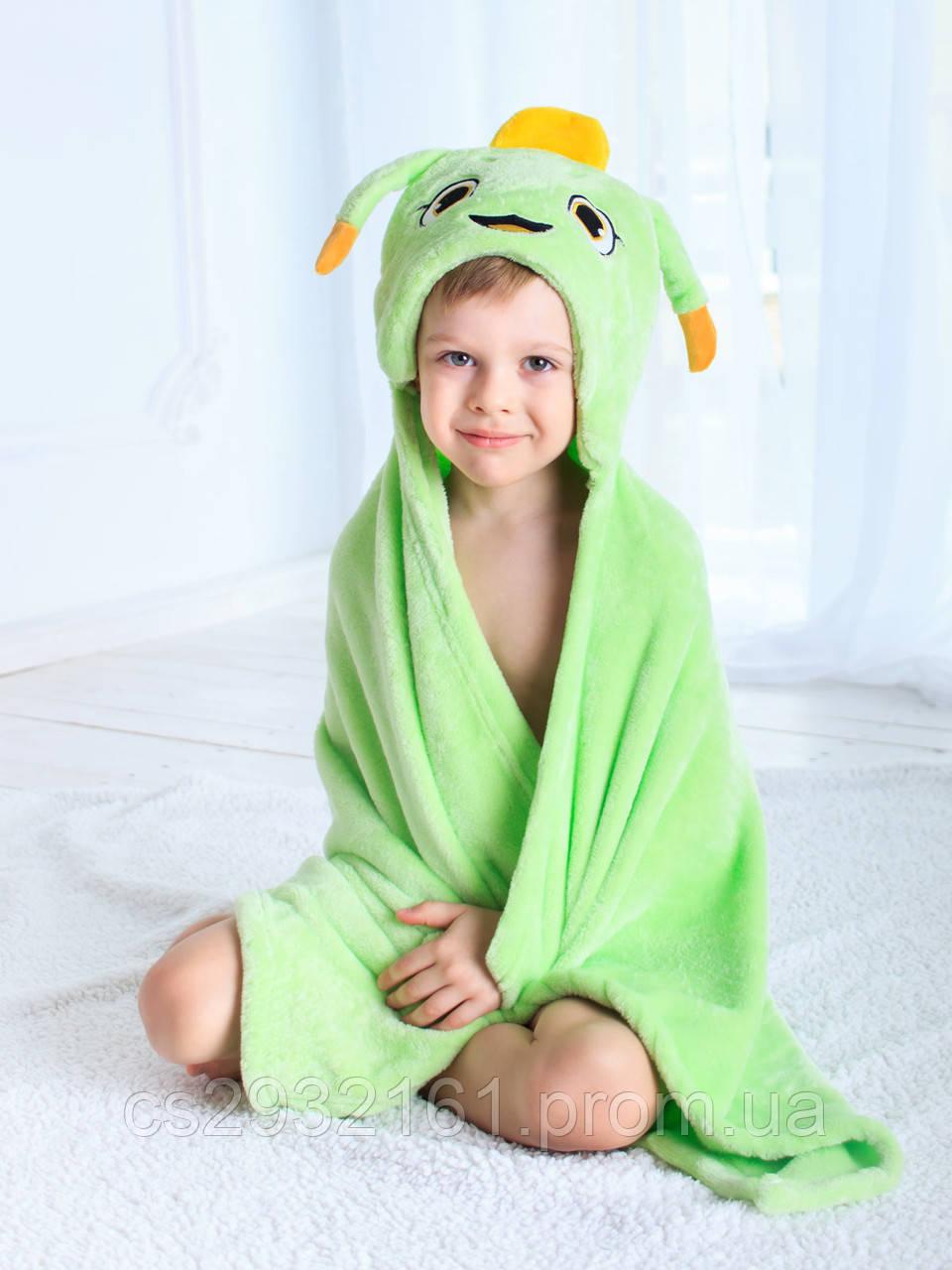 Детское полотенце с капюшоном Dream Towels Муравейчик 76х92 Салатовый (dm-1009)