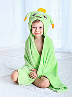 Детское полотенце с капюшоном Dream Towels Муравейчик 76х92 Салатовый (dm-1009), фото 1