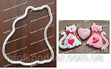 Пластикова вирубка Закоханий Кіт №3