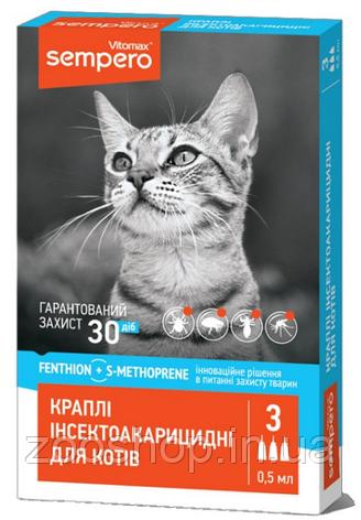 Капли Sempero от блох и клещей для котов, фото 2
