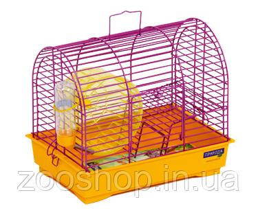 Клетка для грызунов «Фаворит» с колесом 30 х 20 х 24 см