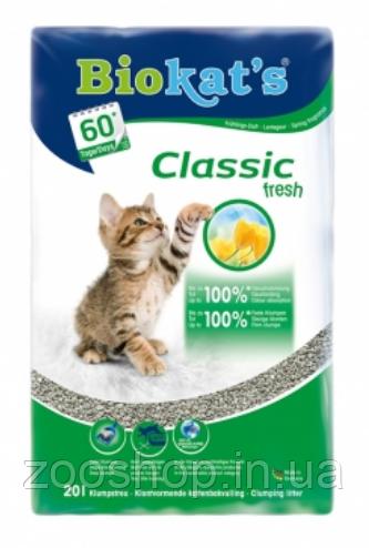 Комкующийся наполнитель для кошачьего туалета Biokat's Classic Fresh