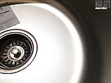 Круглая кухонная мойка из нержавеющей стали  Galati Pula Textura , фото 5
