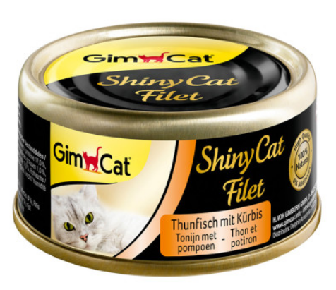 Консервы Gimcat ShinyCat Filet Тунец с тыквой, фото 2