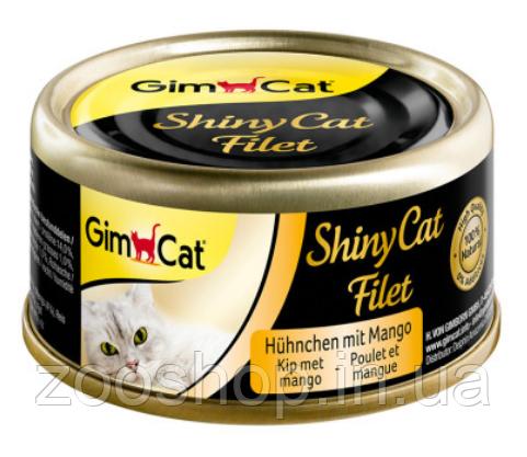 Консервы Gimcat ShinyCat Filet Цыпленок с манго, фото 2