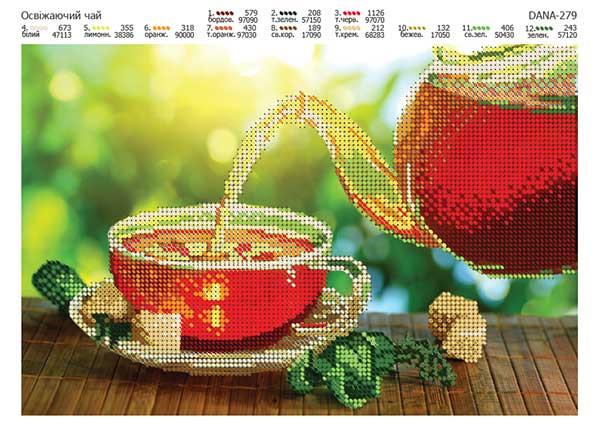 Схема для вышивки Освежающий чай