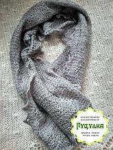 Новинка Шарф в язаний теплий сірий з козиного пуху 150 35 см f0c634d089516