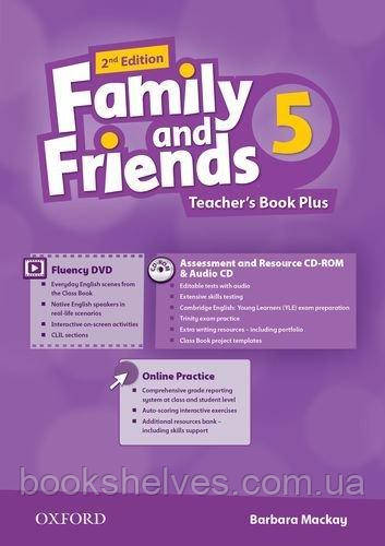 Family and Friends 2nd Edition 5 Teacher's Book Plus + CD-ROM + Audio CD