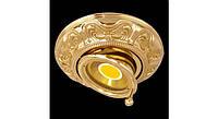 Латунный потолочный встраиваемый светильник SIENA ROUND, яркое золото