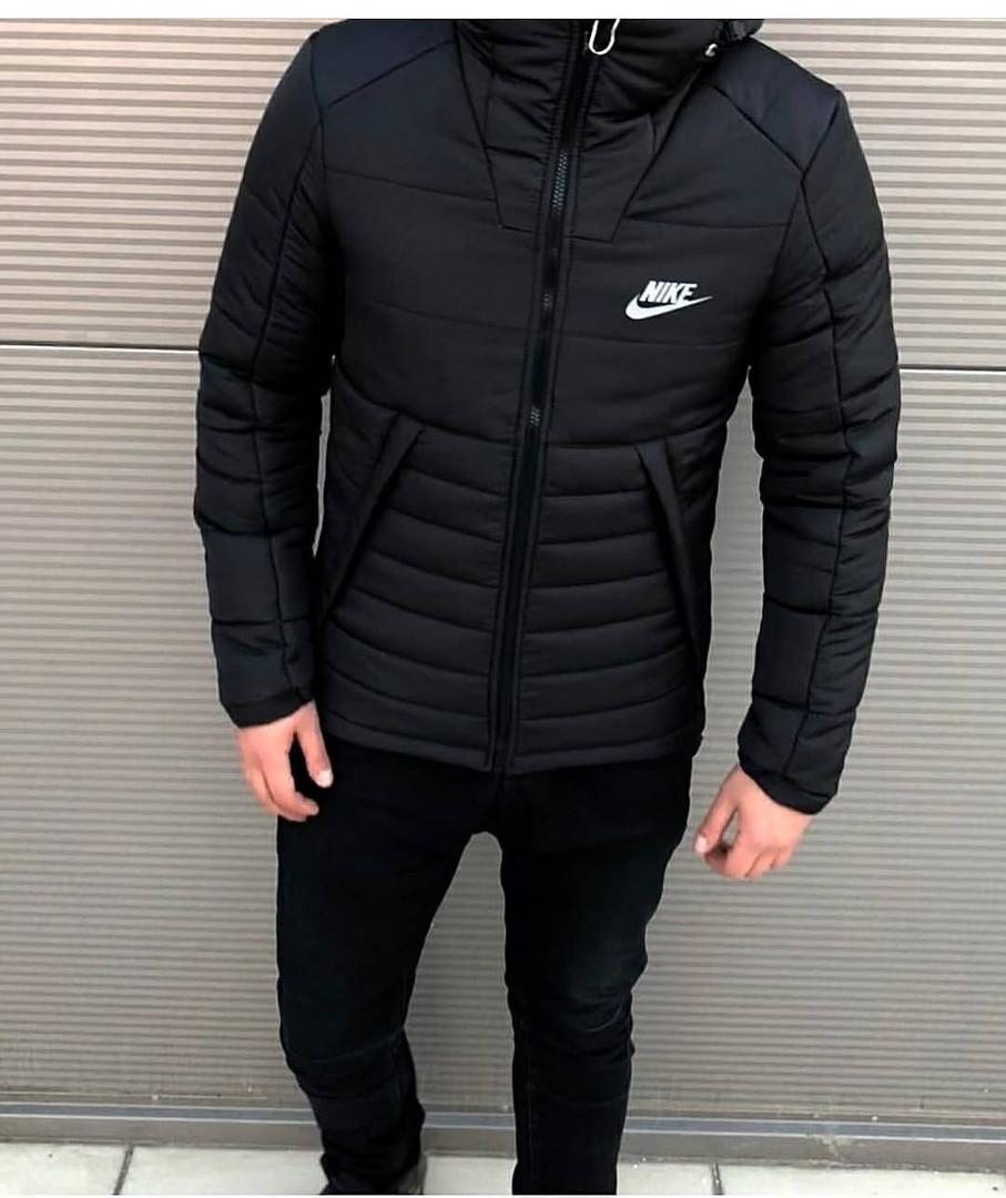 bc2a8ca7e49 Мужская Зимняя Черная Куртка Nike Качественная Турецкая Куртки Мужские  Фирменные