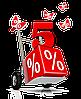 Получи 5% скидку при оформлении заказ через корзину