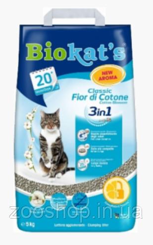 Наполнитель Biokat's Fior de Cotton 3 в 1 10 кг