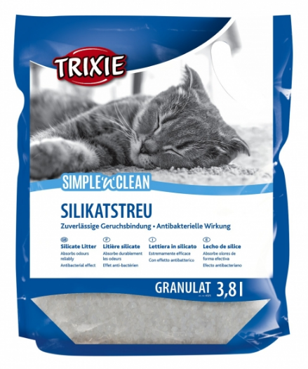 Наполнитель Trixie для кошек Simple n Clean силикагелевый 3,8 л