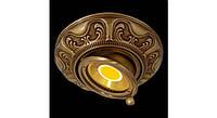 Латунный потолочный встраиваемый светильник SIENA ROUND, яркая патина
