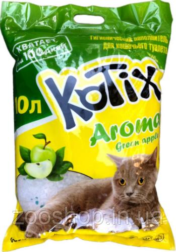 Наполнитель силикагелевый Kotix яблоко 10 л
