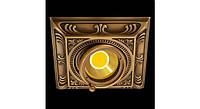 Латунный потолочный встраиваемый светильник SIENA SQUARE , яркая патина
