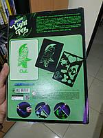 Доска для рисования рисуй светом А4 набор для творчества,Made in Ukraine. Neon light pen., фото 6