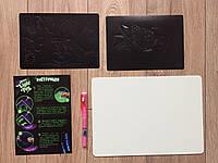 Доска для рисования рисуй светом А4 набор для творчества,Made in Ukraine. Neon light pen., фото 4