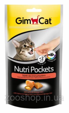 Подушечки Gimcat NutriPockets с лососем и Омега 3 и 6, фото 2