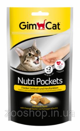Подушечки Gimcat NutriPockets с сыром и таурином, фото 2