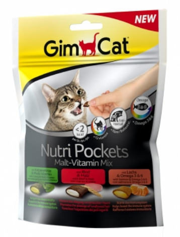 Подушечки NutriPockets Malt-Vitamin Mix Gimborn GimCat, фото 2