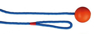 Гумовий м'яч на мотузці для собак Trixie