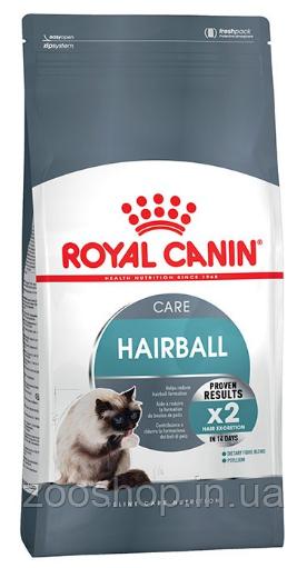 Сухой корм Royal Canin Hairball Care для котов от 1 года для выведения волосяных комков 10 кг